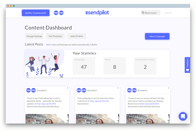 The Best Social Media Scheduling Tool that Saves your Precious Time - SendPilot