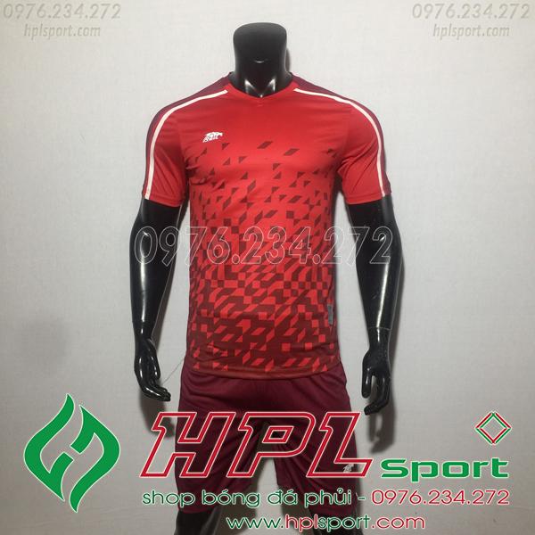 Áo bóng đá ko logo Eureka HAT CĐX  Màu Đỏ