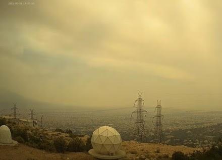 Καπνοί στην Αθήνα από την πυρκαγιά στο Σχίνο Κορινθίας (video)