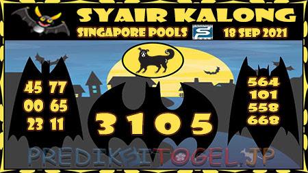Syair Kalong Togel Singapura Sabtu 18-09-2021