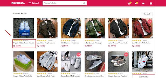 Cara Beli Produk di Template BukaBlog