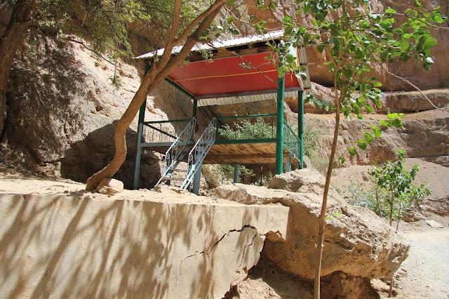 Ouzbékistan, Derbent, rivière Shurob, tapshan, tapchane, © L. Gigout, 2012