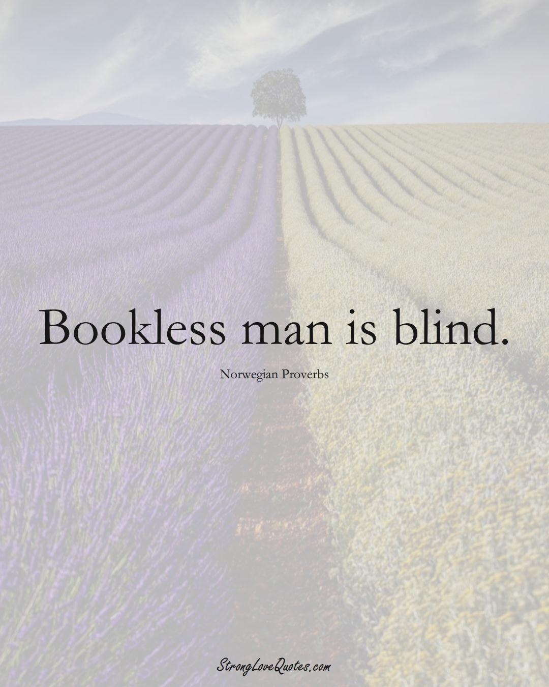 Bookless man is blind. (Norwegian Sayings);  #EuropeanSayings