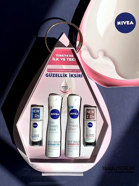 Nivea Deo Beauty Elixir Sensitive süt özleri fresh waterlily sensitive flower