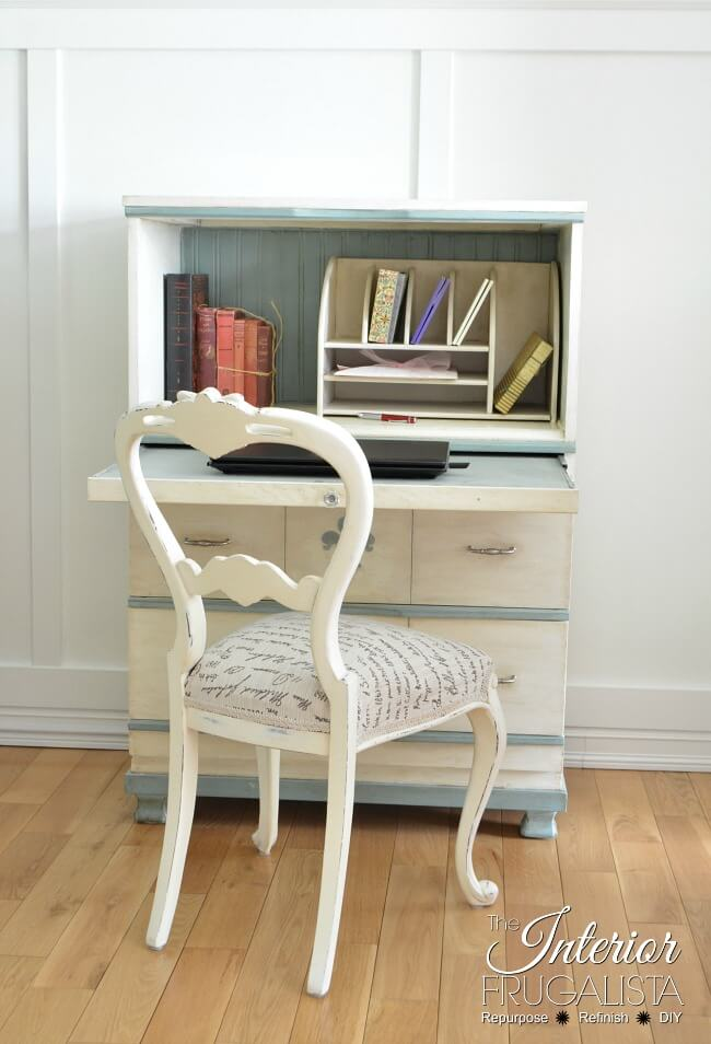 9 Creative Desk Makeovers - Faux Secretary Slide Out Desk