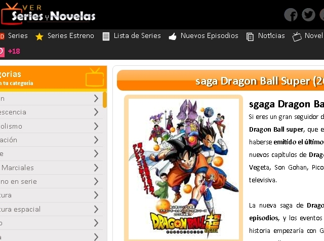Ver Series y Novelas Saga Dragon Ball Super online