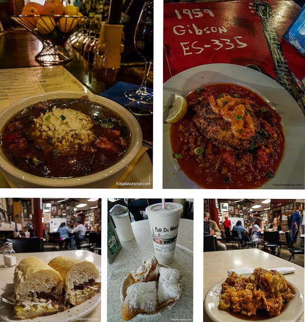 Pratos típicos de Nova Orleans