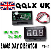 Voltmeter 3.2 to 30 volts - link to buy on ebay