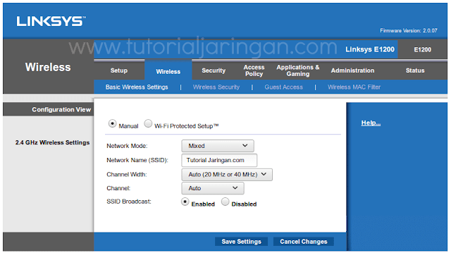 Tutorial Cara Setting Router WiFi Linksys E1200