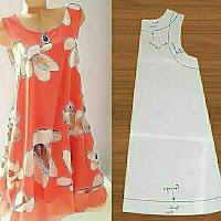 Vestidos femeninos con patrones de costura y medidas