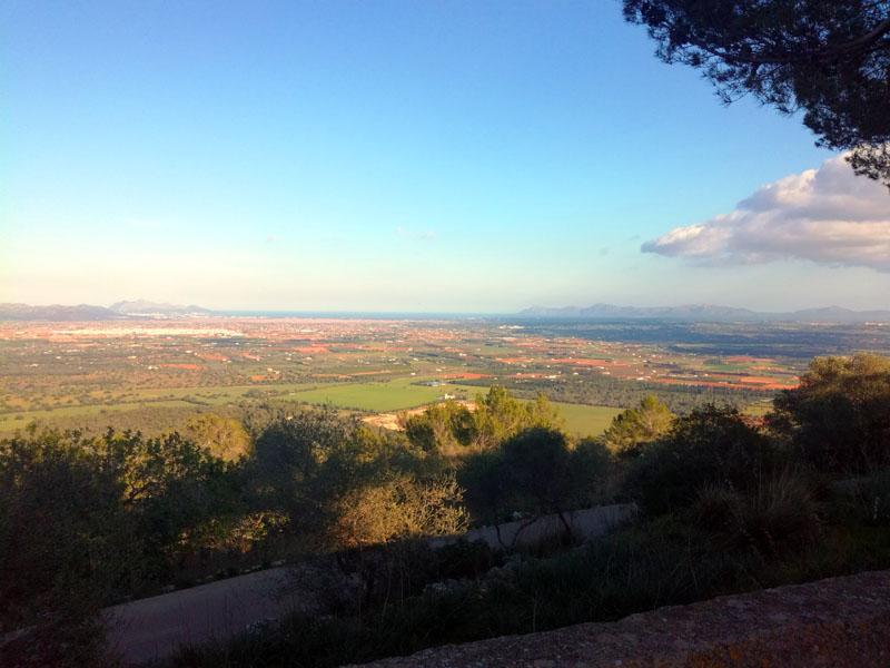 Vista sulla Baia di Alcudia dal Puig de Santa Magdalena - Mallorca