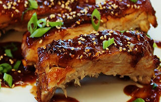 Baby Back Ribs with Asian Orange-Ginger Glaze Recipe [ Cooks Recipse ]