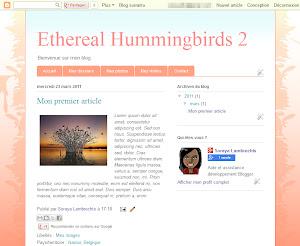 Ethereal Hummingbirds 2 Theme