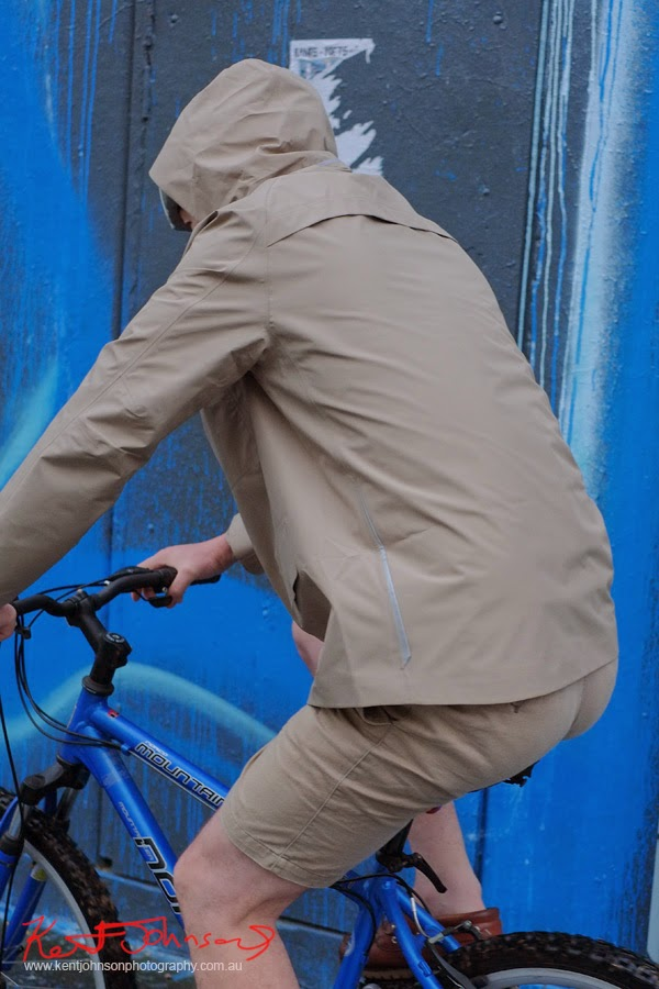 Parka three quarter back view while riding, Levi's Modular Commuter Parka - Photo by vivalaViv