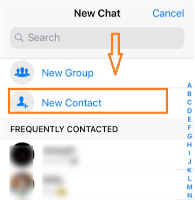 This article is written on How to add a new contact on whatsapp.
