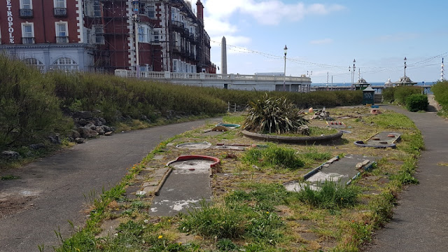 North Shore Crazy Golf course in Blackpool 20 May 2019