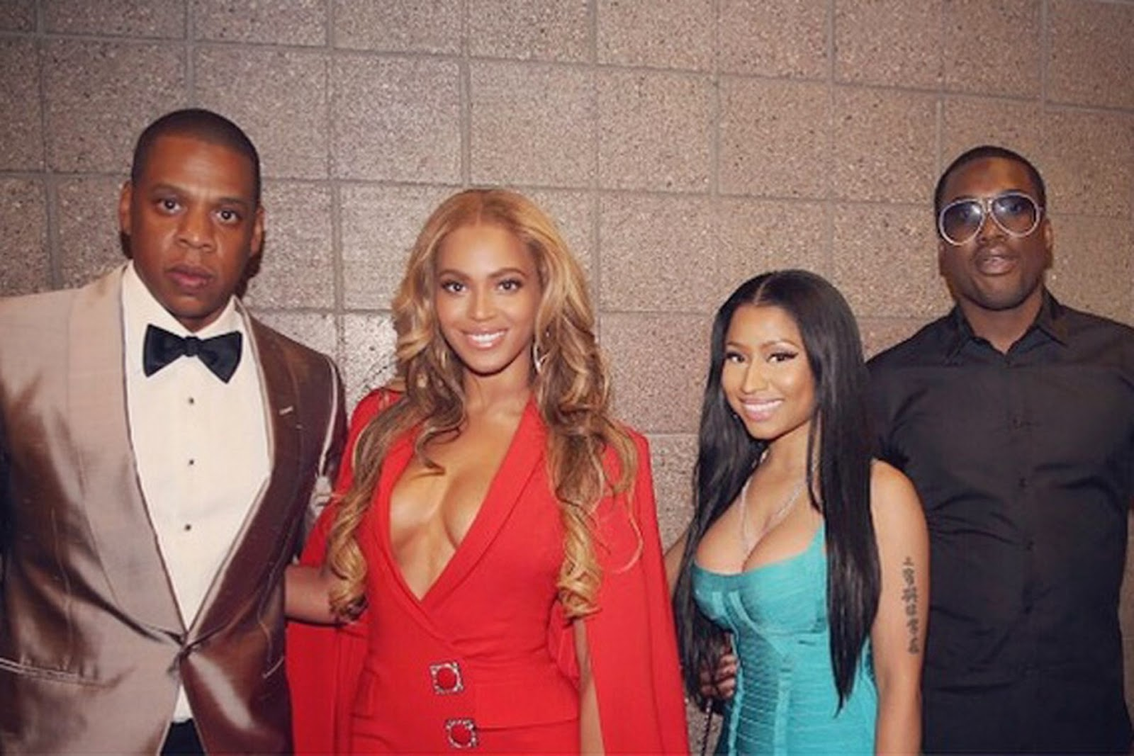 Beyonce, Jay Z and Nicki Minaj at Mayweather VS Pacquiao