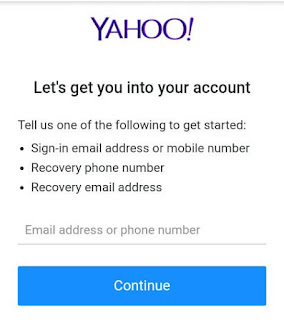Enter your recovery email, phone number