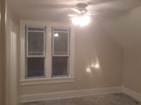 Painted walls and ceiling