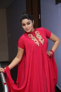 Actress Poorna Latest Stills in Red Dress at Rakshasi First Look Launch  0208.JPG