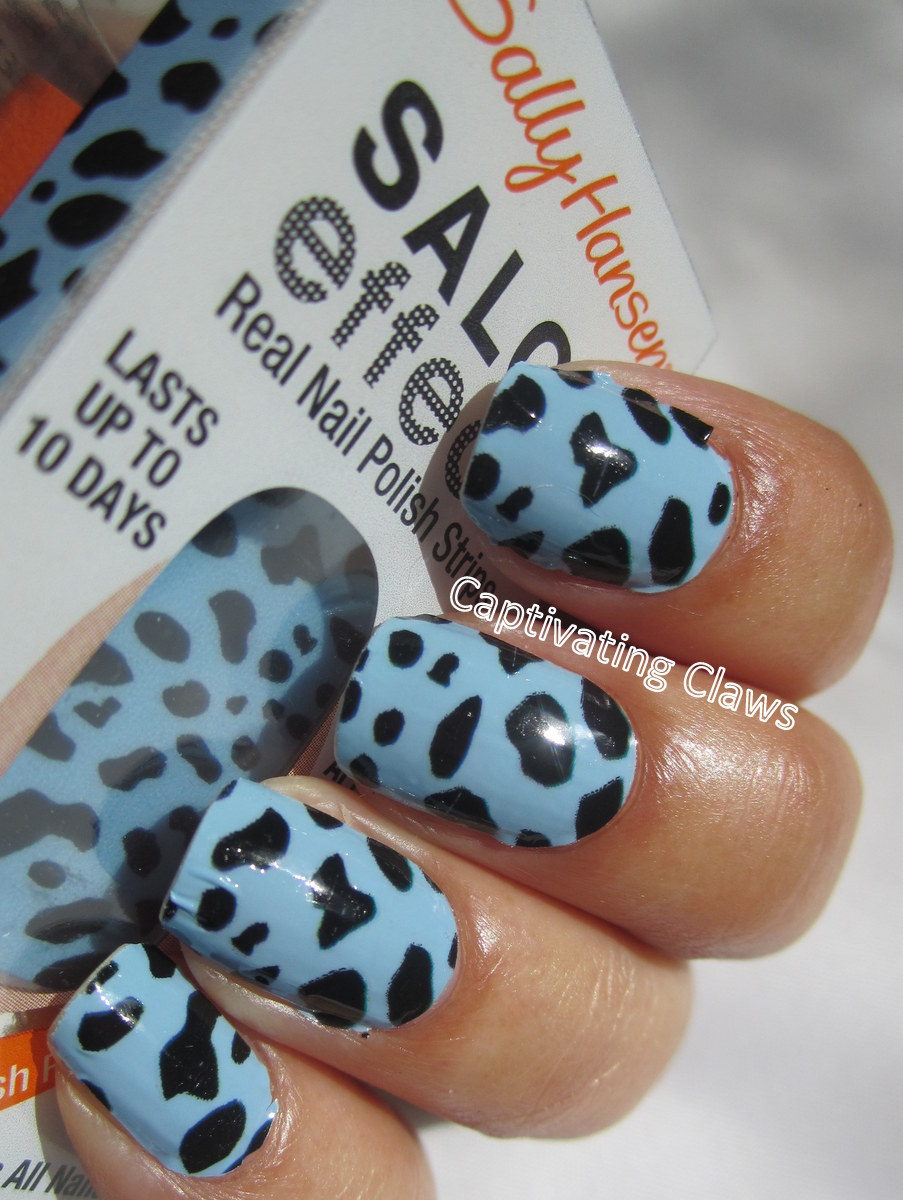 31dc2012 Day 10 Gradient Nails: Captivating Claws: 31DC2012 Day 13, Animal Print