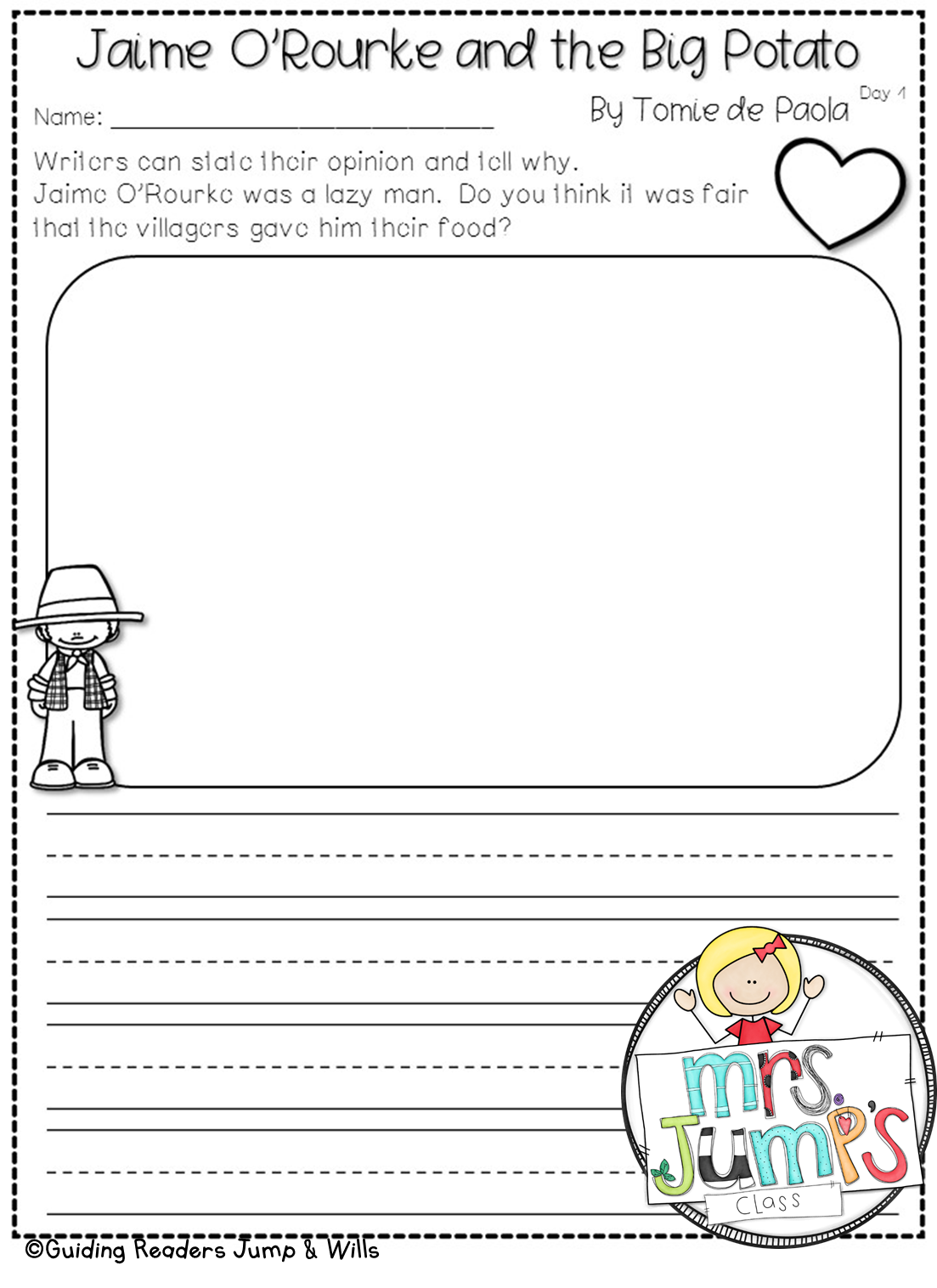 Mrs Jump S Class Book Study Worksheets Don T Grow