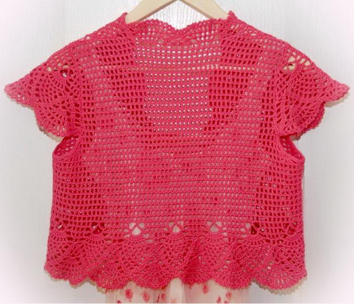 Crochet Bolero, back