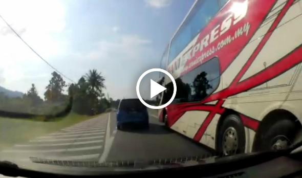 Seorang pengguna jalan raya telah meluahkan kekesalannya di atas sikap pemandu bas Sani Express yang di anggap boleh membahayakan penumpang