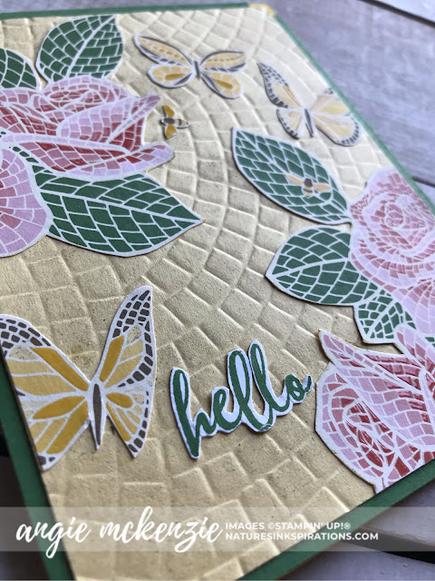 Fun with Fussy Cutting | Mosaic Mood Specialty DSP and To a Wild Rose (sentiment) by Stampin' Up!® | Nature's INKspirations by Angie McKenzie