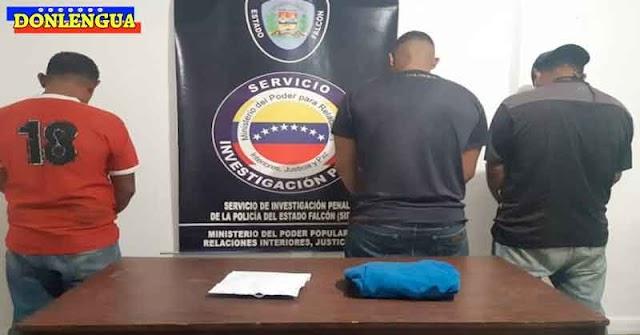 Tres detenidos por secuestrar a una joven con problemas mentales en Falcón
