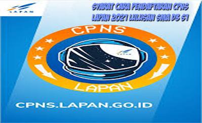 Cara Pendaftaran CPNS LAPAN 2021 Lulusan SMA SMK D3 S1 ...