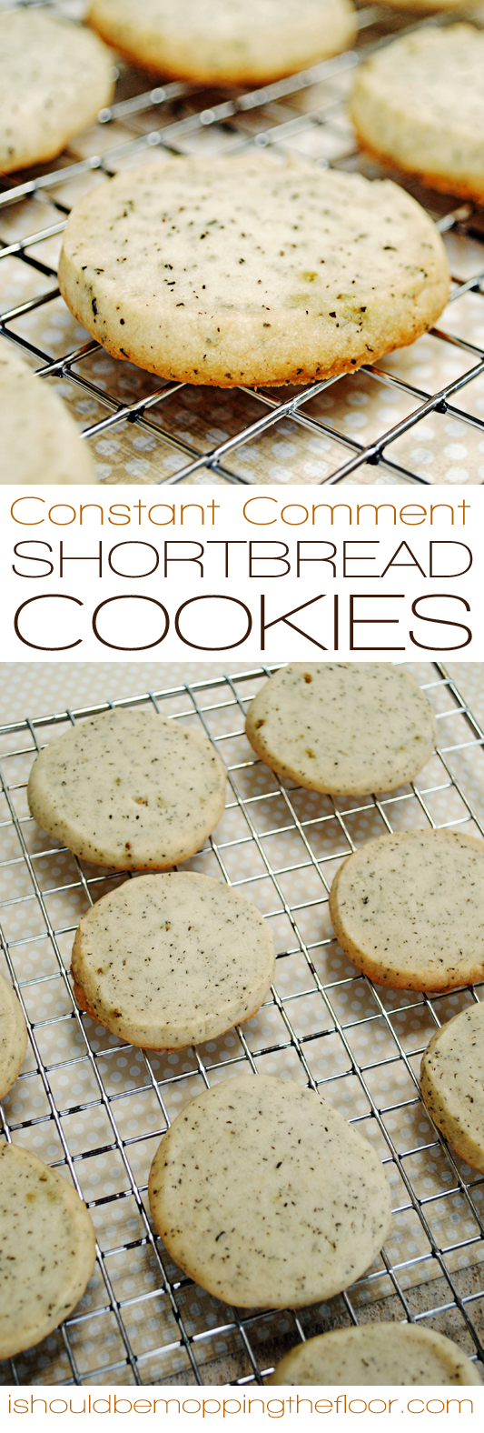 Constant Comment Shortbread Cookies | Delicious, orange-infused shortbread cookies laced with Bigelow Tea (Constant Comment flavor). | Simple to make.