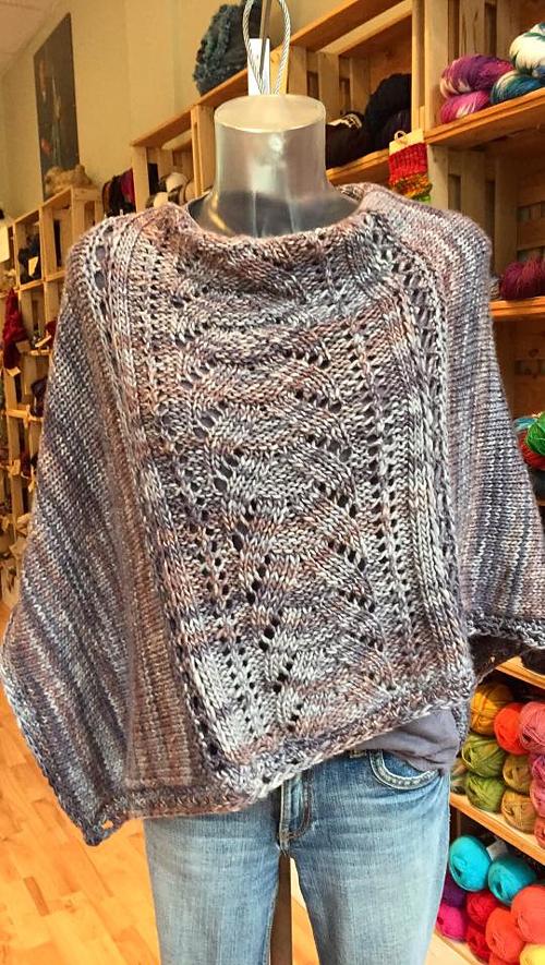 Denizen Poncho - Free Knitting Pattern