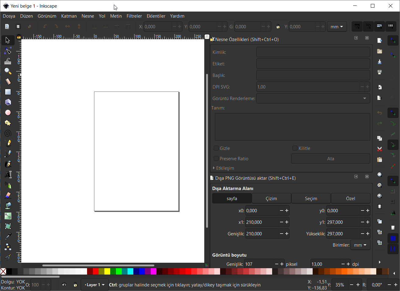 Inkscape Dark Theme (Koyu Tema)