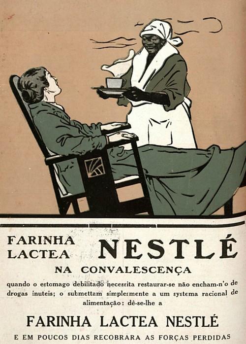 Propaganda antiga da Nestlé promovendo sua Farinha Láctea em 1916