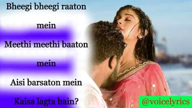 Bheegi Bheegi Raaton Mein Lyrics