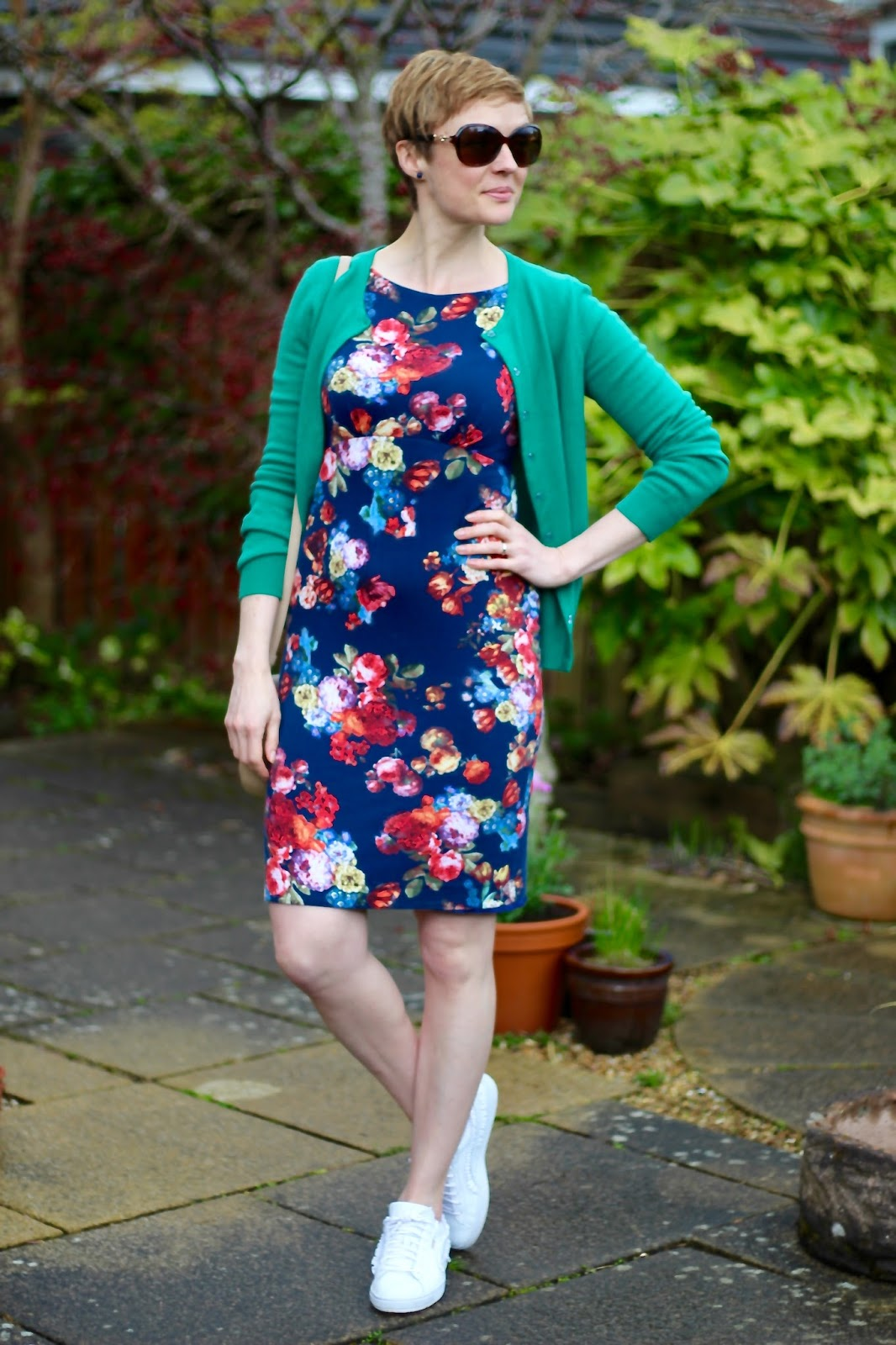 Spring Floral Dress and White Trainers | Fake Fabulous