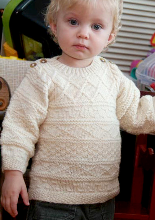 Baby Gansey Sweater - Free Pattern