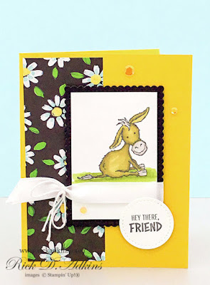 Check out today's Hey There Friend Card using the Darling Donkeys Sale-A-Bration Stamp Set.  Click here to learn more
