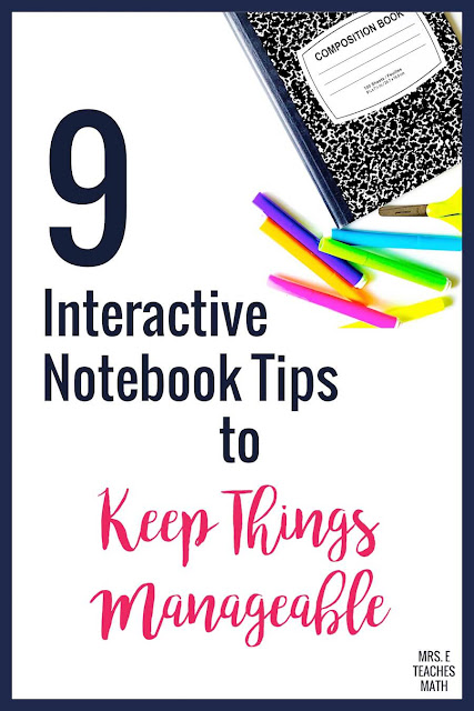 Setting up interactive notebooks in high school can be overwhelming. These interactive notebook tips are perfect to help you organize and plan your lessons. I use these FREE tips in math, but they could also be used in English, social studies, or even science!