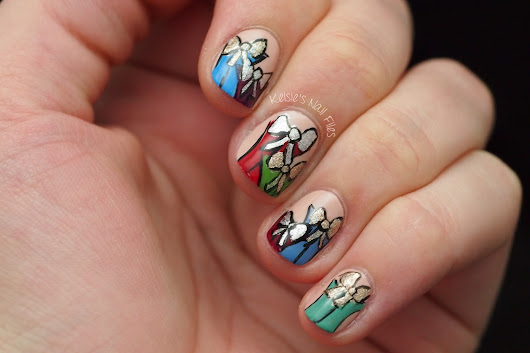 2016 Winter Nail Art Challenge: Wrapping/Bows