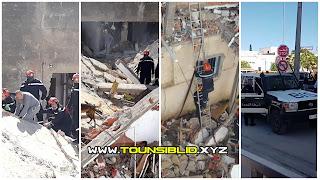 (بالفيديو و الصور) حي الزهور: إنفجار كبير جداا لقارورة غاز والبحث عن المفقودين (إمرأة وأبنها) تحت الأنقاض...