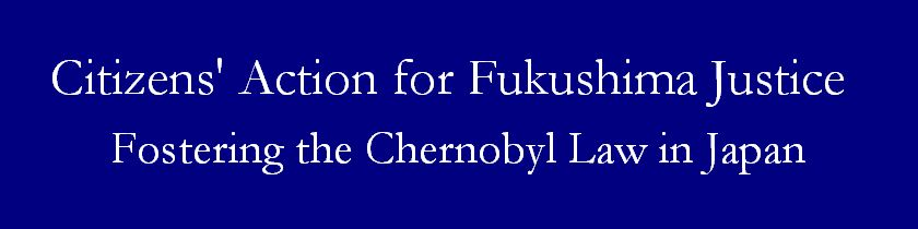 Citizens' Action for Fukushima Justice--Fostering the Chernobyl Law in Japan--