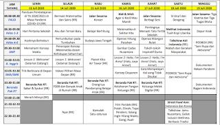 Panduan dan Jadwal Belajar Dari Rumah di TVRI Minggu Ke empatbelas13 Juli 2020 - 19 Juli 2020