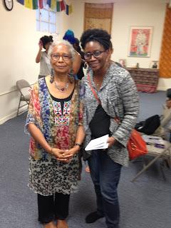 Alice Walker and Jenee Darden pose together after retreat