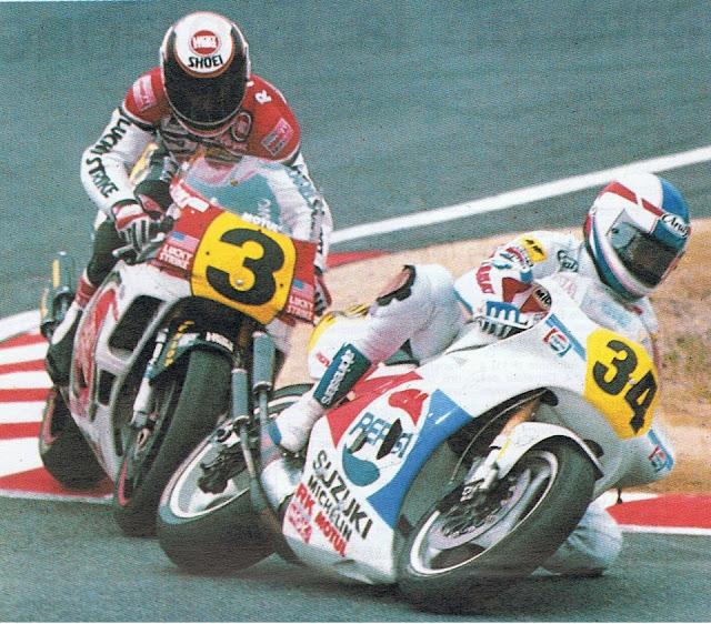 Suzuka Japão Kevin Schwantz Waine Rainey 1989 500cc
