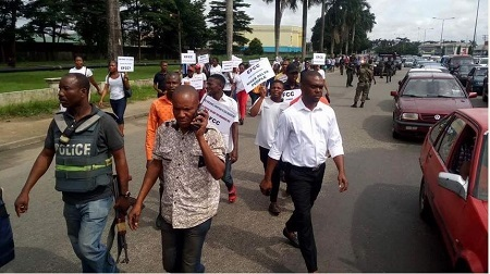 Protest in Rivers Over Investigation of Patience Jonathan by EFCC (Photos)