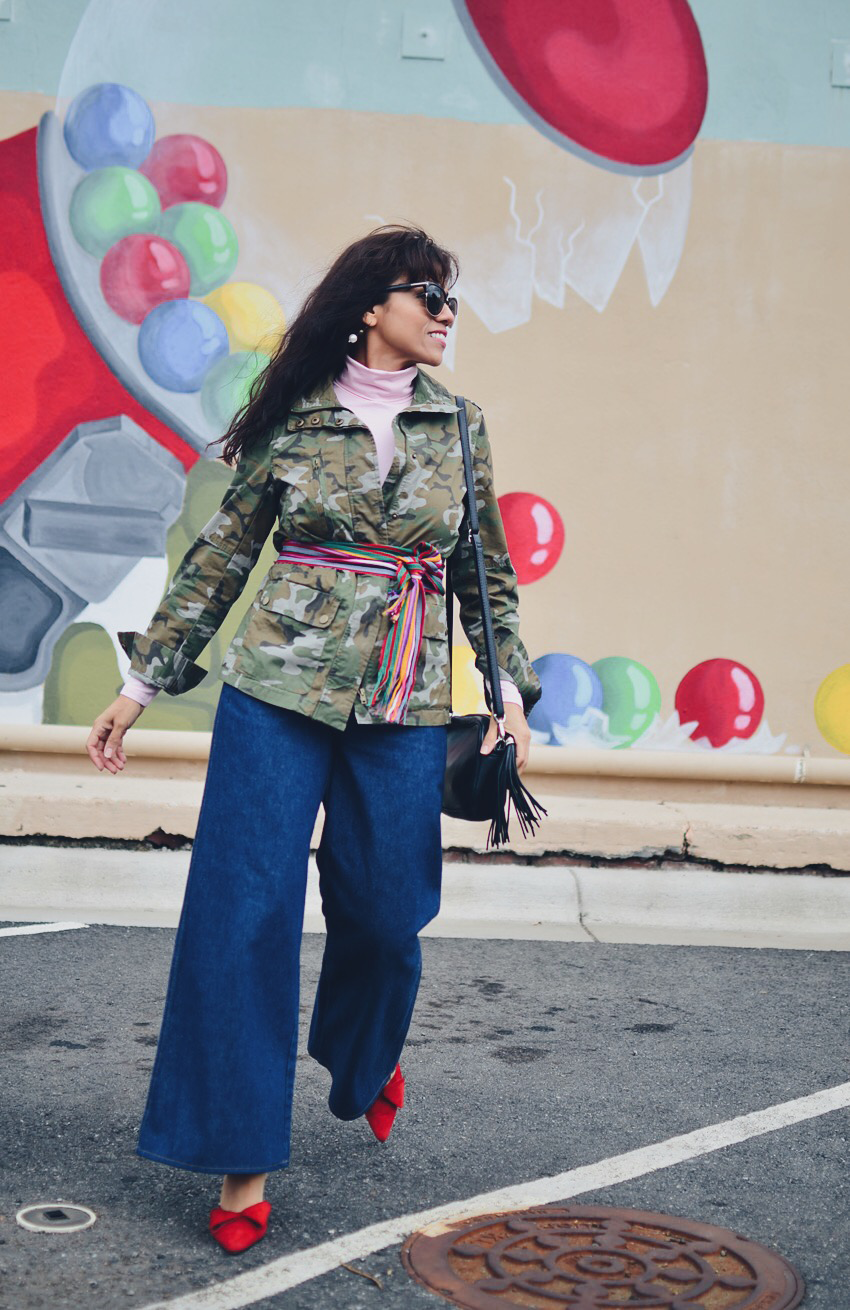 Camo jacket street style