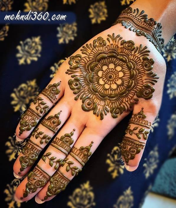 Best Mehndi Design for Front Hand