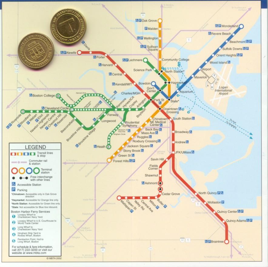 Subway Map In Boston.Boston T Map Free Printable Maps
